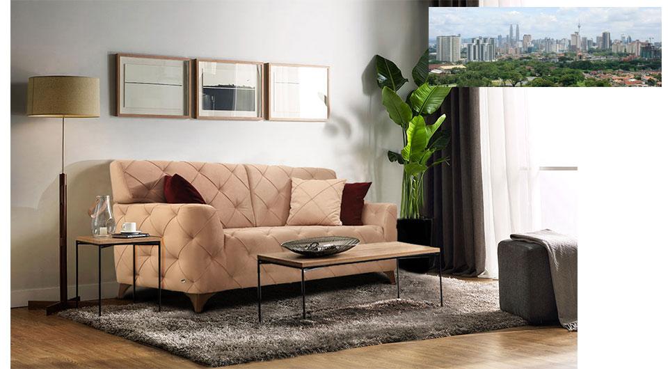Serrika kanepe, 2'li koltuk